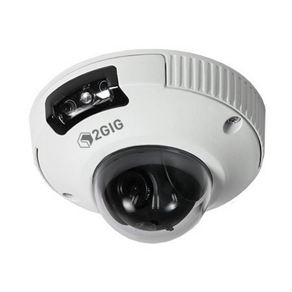 2GIG-CAM-250P 2GIG 2.8mm 30FPS @ 1080p Outdoor IR Day/Night Dome Security Camera 5VDC/PoE - White
