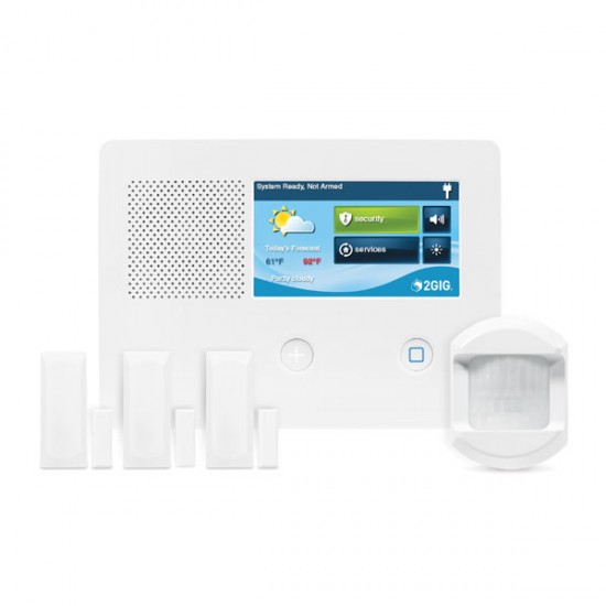2GIG-GC2E-345-K31 2GIG GC2e Series Security & Home Automation Control Panel Kit with 3 x Door/Window Contacts and 1 x PIR Motion Detector