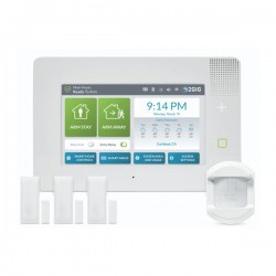 2GIG-GC3E-345-K31 2GIG GC3e Series Security & Home Automation Control Panel Kit with 3 x Door/Window Contacts and 1 x PIR Motion Detector