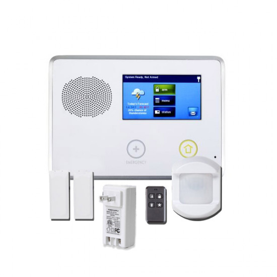 2GIG-GCKIT211S 2GIG GC2 Go!Control 2-1-1 Security and Home Automation Kit with 2 x Door/Window Contacts, 1 x PIR Motion Detector, 1 x Key Ring Remote and 1 x AC1 Plug - Spanish