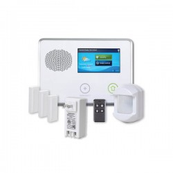 2GIG-GCKIT311 2GIG GC2 Go!Control 3-1-1 Security and Home Automation Kit with 3 x Door/Window Contacts, 1 x PIR Motion Detector, 1 x Key Ring Remote and 1 x AC1 Plug