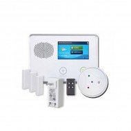 2GIG-GCKIT31GB 2GIG GC2 Go!Control 3-1-1 Security and Home Automation Kit with 3 x Door/Window Contacts, 1 x Glass Break Detector, 1 x Key Ring Remote and 1 x AC1 Plug