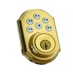 99100-004 Linear Z-Wave Kwikset Door Lock - Deadbolt - Solid Brass