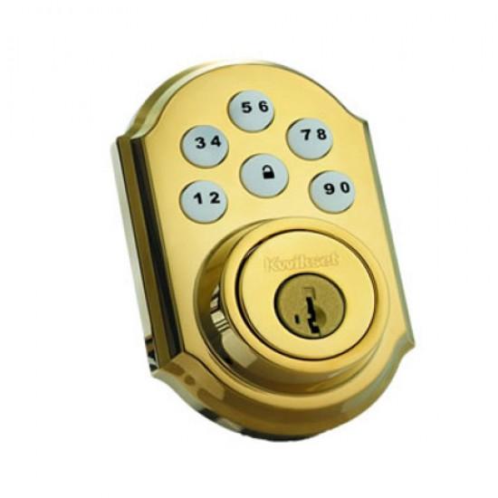 99100-004 Linear Z-Wave Kwikset Door Lock - Deadbolt - Solid Brass