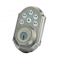 99100-005 Linear Z-Wave Kwikset Door Lock - Deadbolt - Satin Nickle