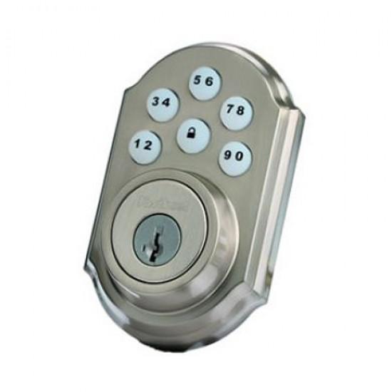 99100-005 Linear Z-Wave Kwikset Door Lock - Deadbolt - Satin Nickle