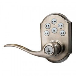 99120-005 Linear Z-Wave Kwikset Door Lock - Satin Nickle