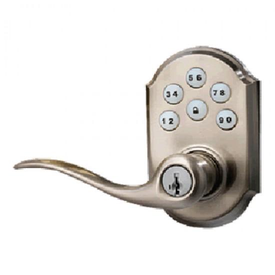 99120-005 Linear Z-Wave Kwikset Door Lock - Satin Nickle