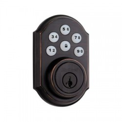 99100-006 Linear Z-Wave Kwikset Door Lock - Deadbolt - Venetian Bronze