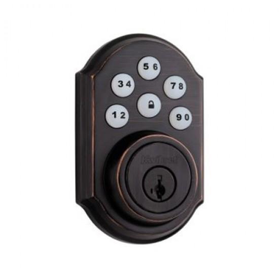 99100-006 Linear Z-Wave Kwikset Door Lock - Deadbolt - Venetian Bronze
